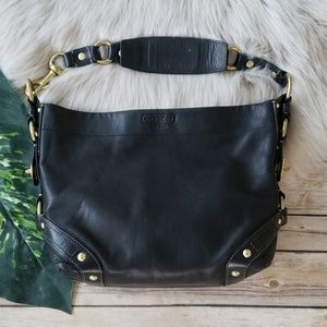 Coach Black Leather Carley Handbag Purse